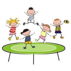 ein trampolin kaufen f r kinder das kinder trampolin. Black Bedroom Furniture Sets. Home Design Ideas